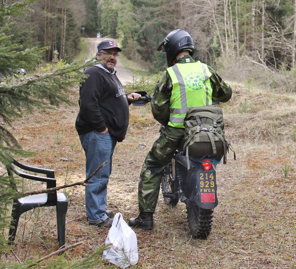 En kontrollpost kamouflerad till civilist.