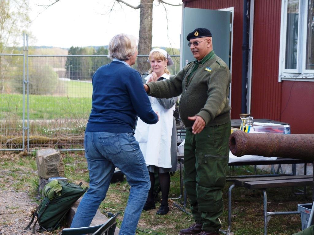 Denna gång fick även Kåsans General Per Helgesson kramas