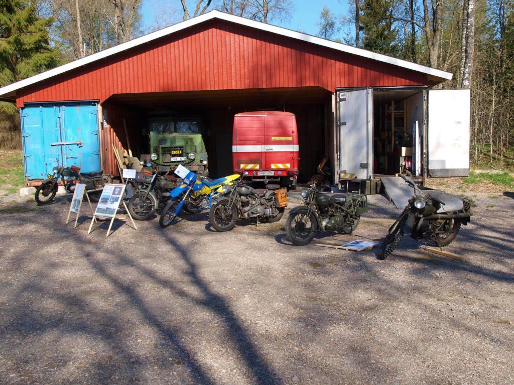 Skepplanda Hemvärns- och Kulturförenings motorcyklar.