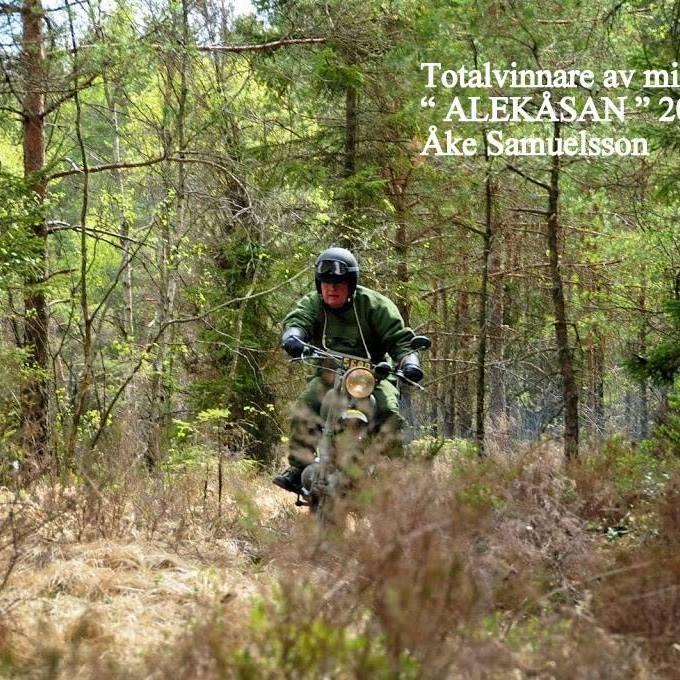 Segrare i Alekåsan 2016: Åke Samuelsson på sin Monark/JAWA